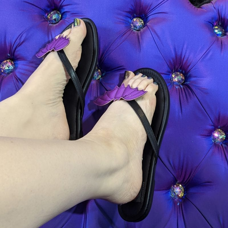 Strange Cvlt Purple Bat Sandals