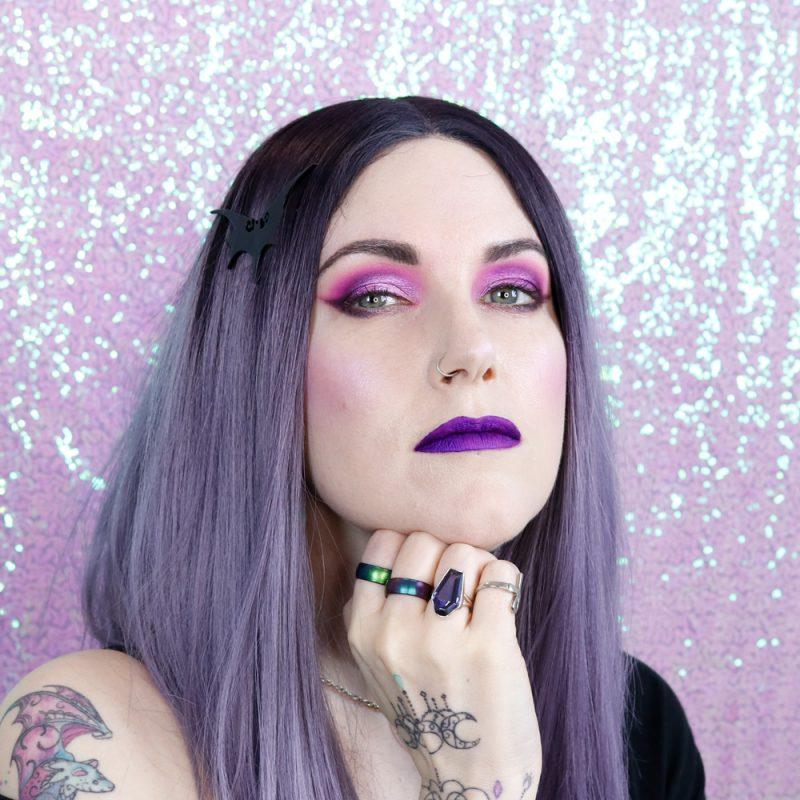Purple Blush, Purple Highlighter, Purple Lipstick