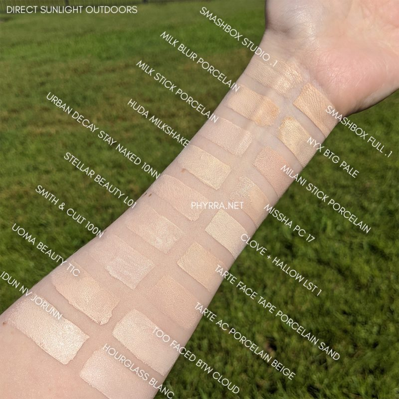 Fair Foundation Swatches