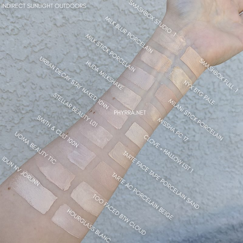 Very Fair Foundation Swatches