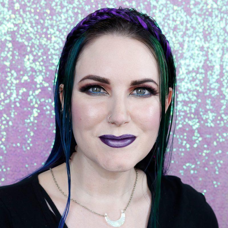 Purple Lipstick on Fair Skin