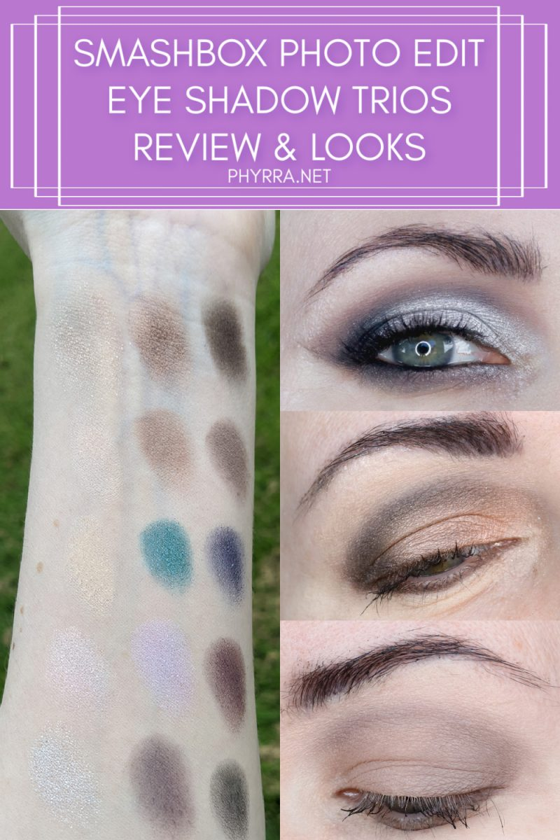 Smashbox Photo Edit Eye Shadow Trios Review and Swatches
