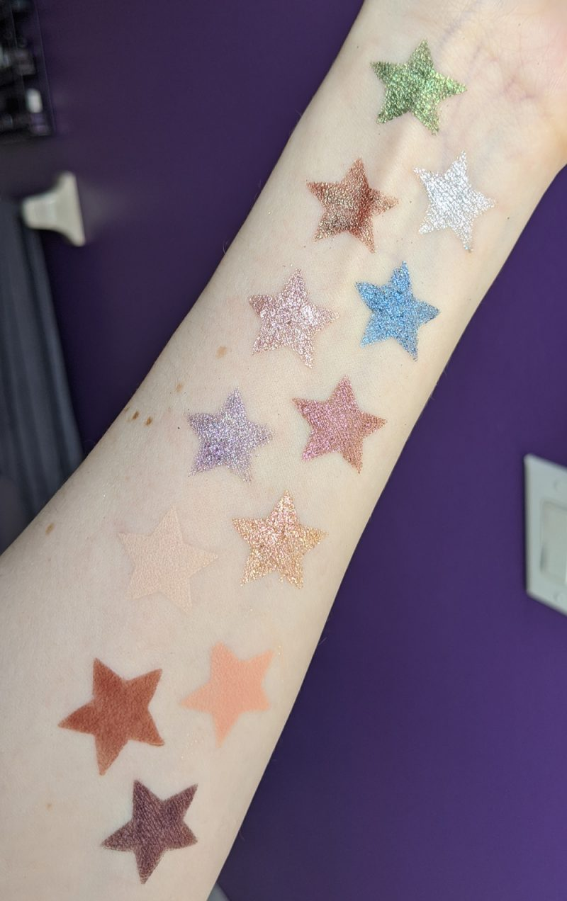 Urban Decay Stoned Vibes Swatches Light Skin