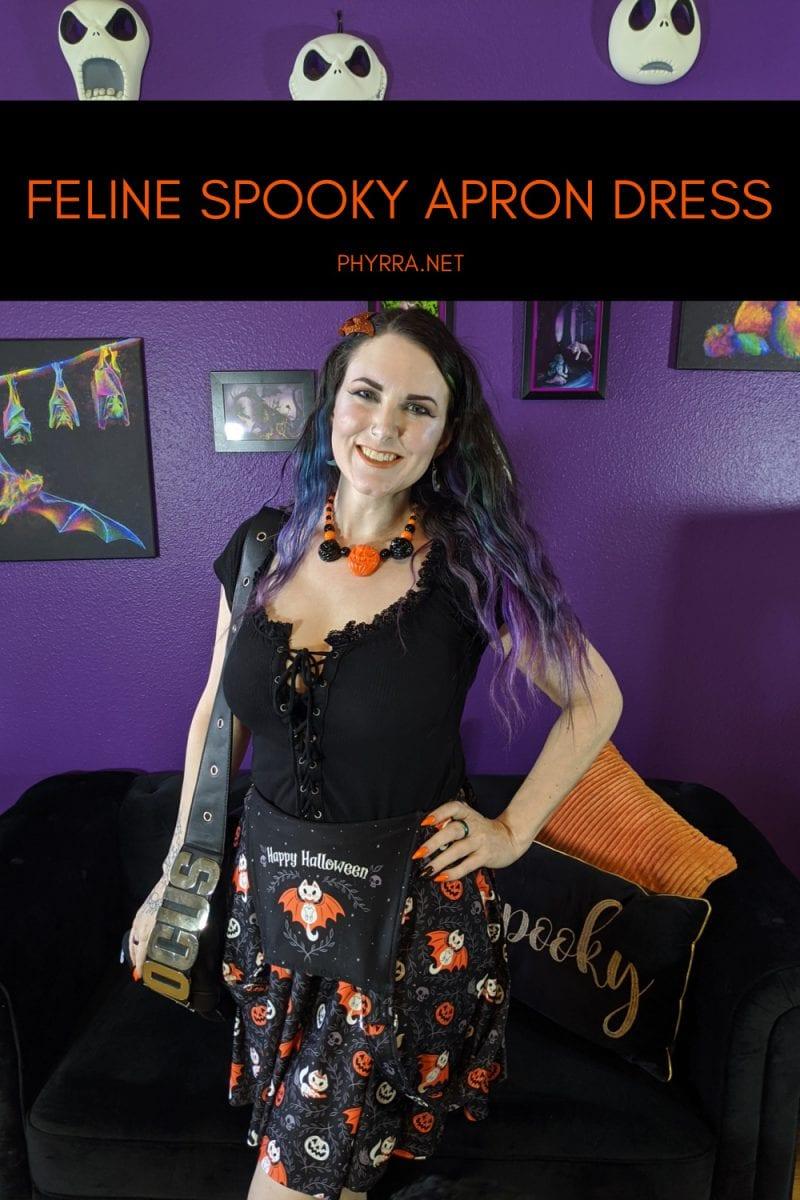 Feline Spooky Apron Dress