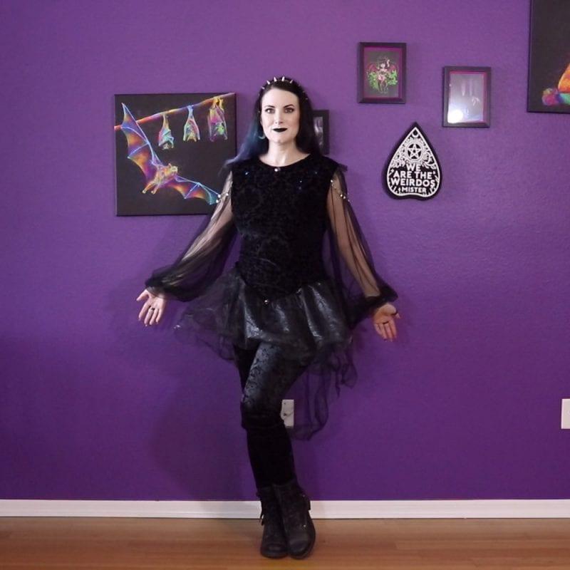 Black High Waisted Velvet Leggings