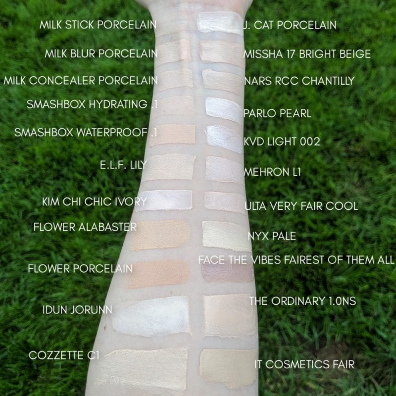 Pale Concealer Swatches