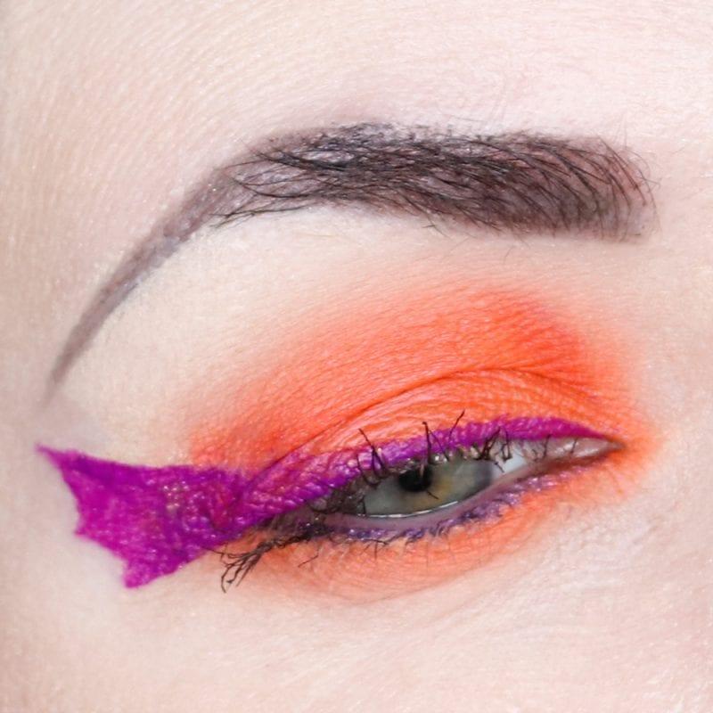 Neon Hooded Eyes Makeup