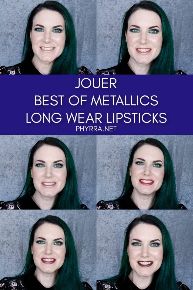 Jouer Metallic Long-Wear Lip Crème Liquid Lipsticks