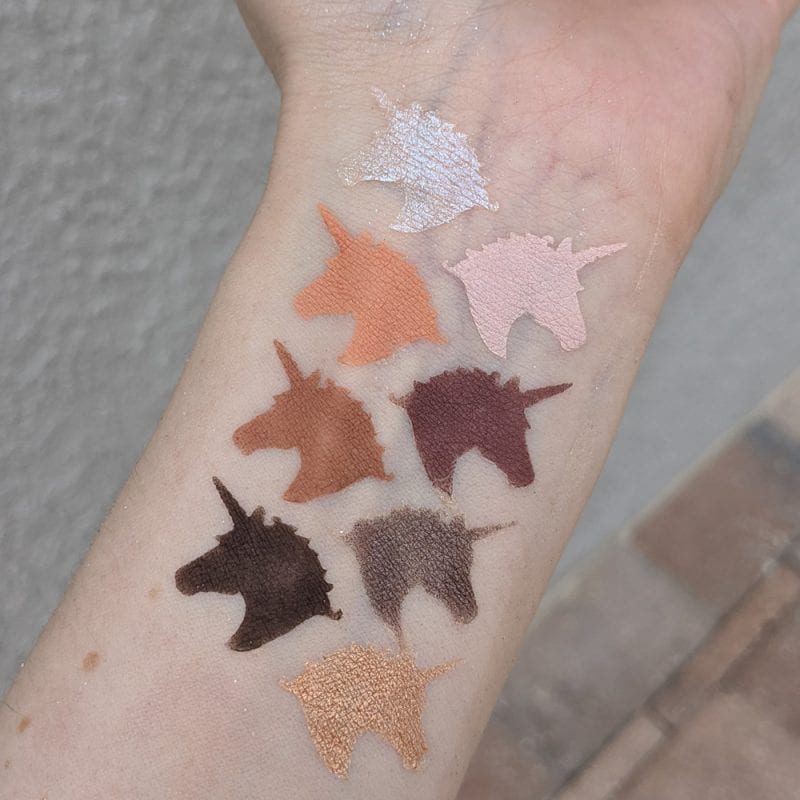 Lime Crime Prelude Exposed Swatches on Fair Skin