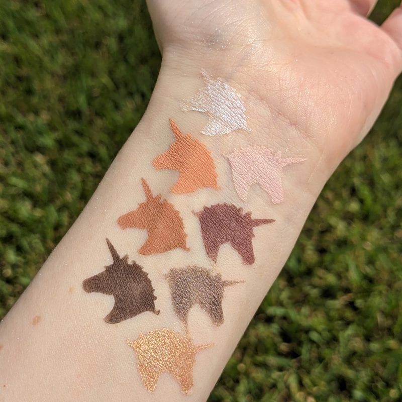 Lime Crime Prelude Exposed Swatches on Light Skin