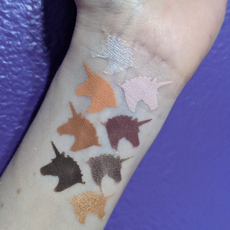 Lime Crime Prelude Exposed Swatches