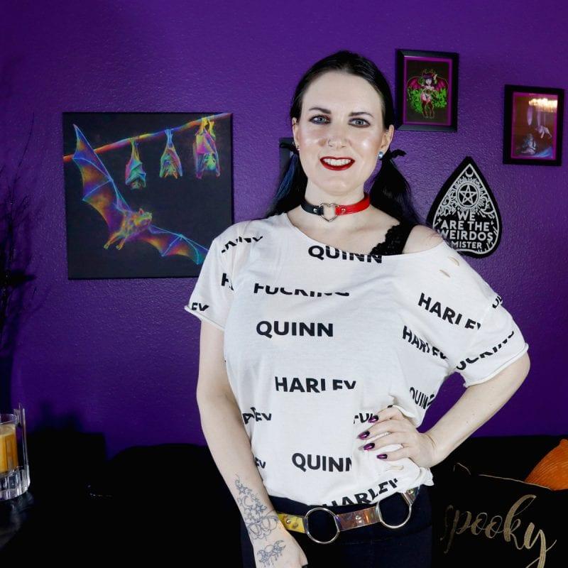 DC Comics Birds of Prey Harley Quinn Explicit Destructed Cosplay Girls T-Shirt