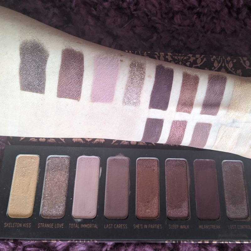 Melt She's in Parties Palette Swatches