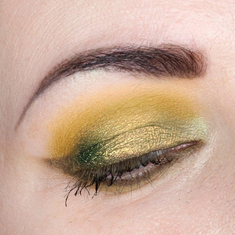 Natasha Denona Scarab, Scrap, Ion, Vert, and JD Glow See Weed Eyeshadows