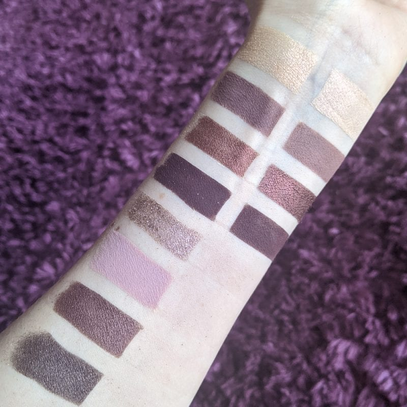 Melt She's in Parties Swatches on Pale Skin