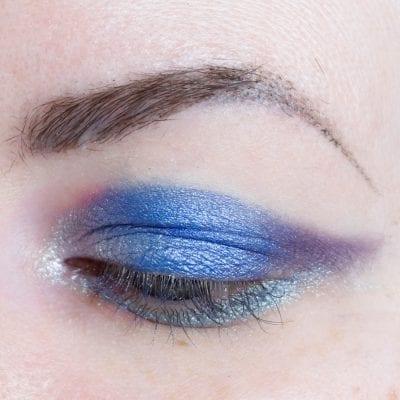 Lime Crime Aura Blue Eyeshadow Look
