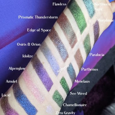 Multichrome swatches