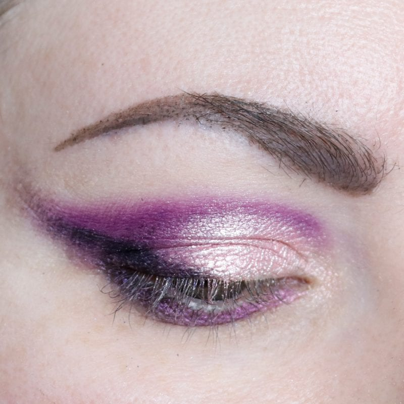 Lime Crime Aura Purple Eyeshadow Look