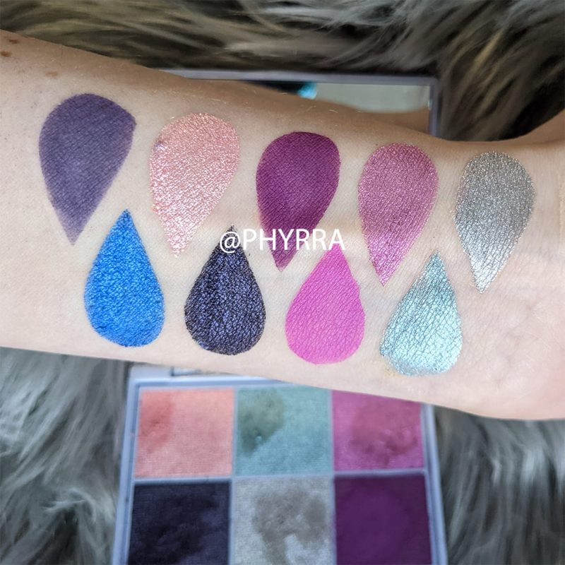 Lime Crime Aura Palette Swatches
