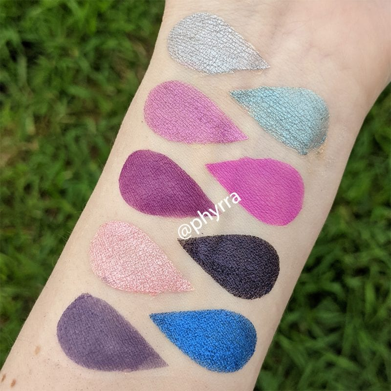 Lime Crime Aura Palette Swatches Fair Skin