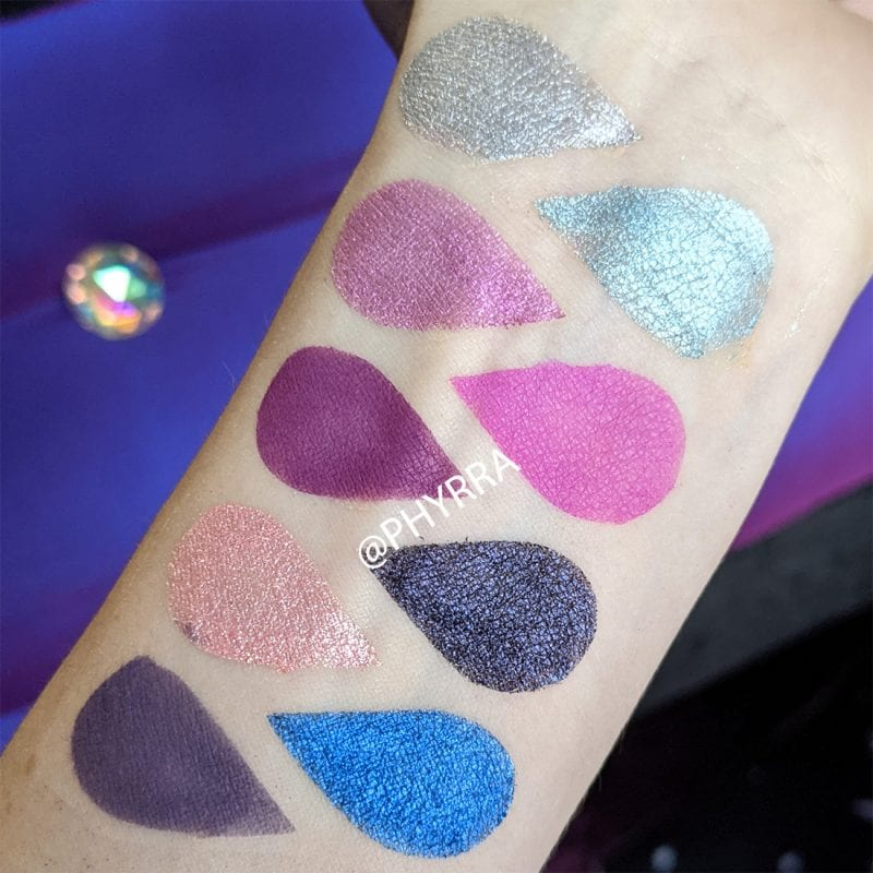 Lime Crime Aura Palette Swatches Pale Skin