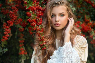 Gorgeous woman outdoors
