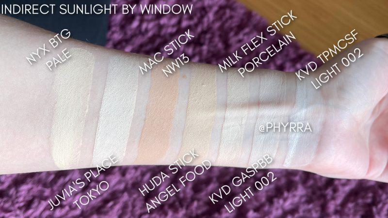 KVD Good Apple Skin-Perfecting Foundation Balm Pale Skin Swatches