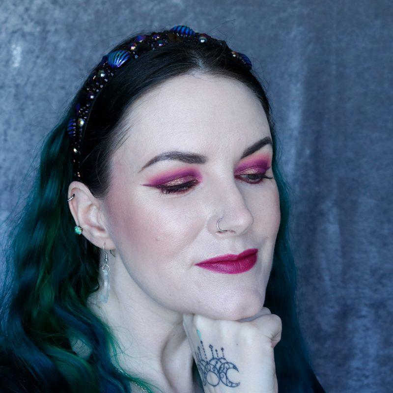 Bold Pink Makeup Hooded Eyes