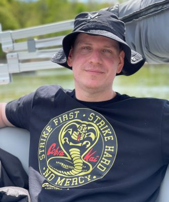 Dave on the boat