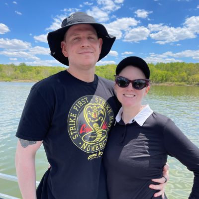 Dave and I on the water