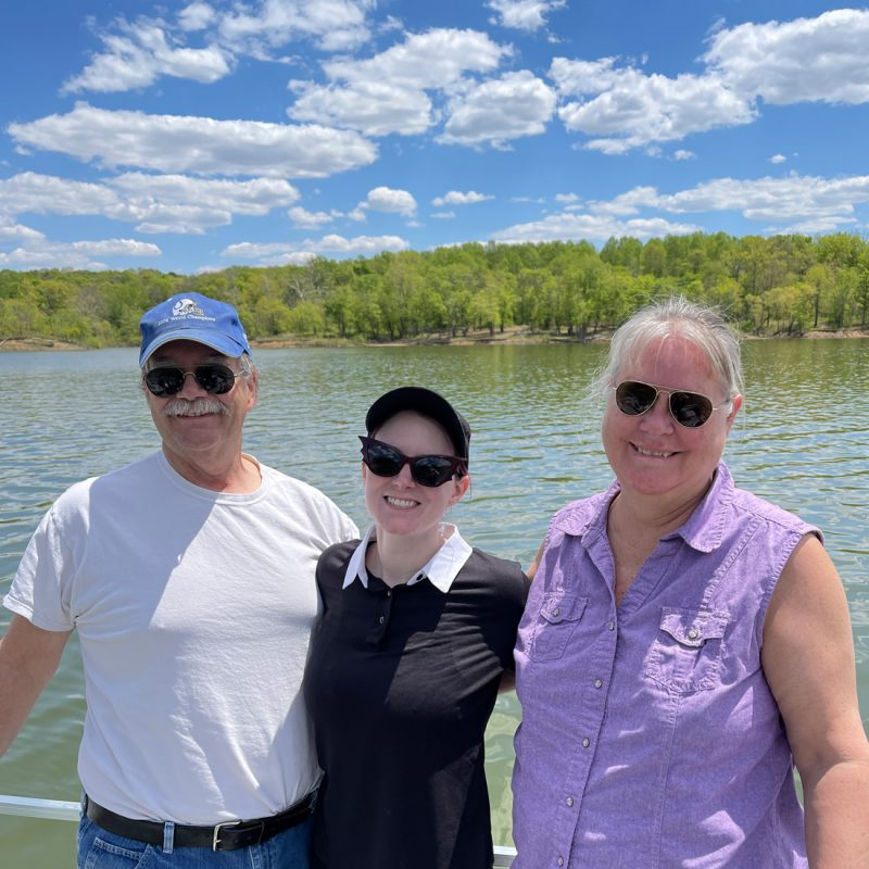 my dad, me, my mom