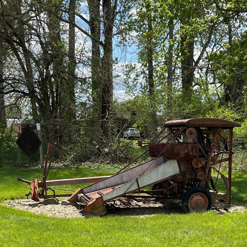 old farm equipment at Praise Acres