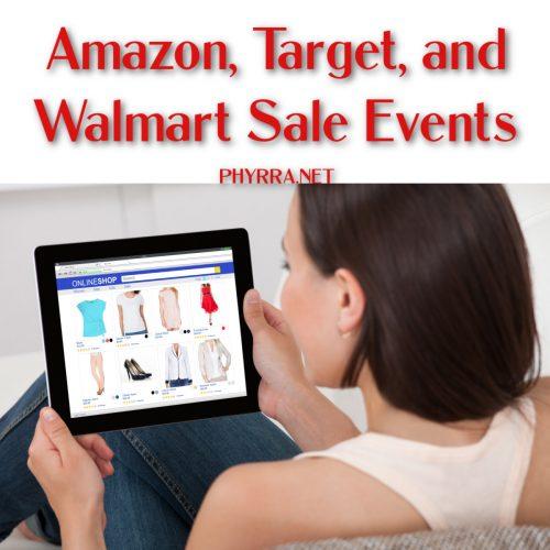 Amazon, Target, and Walmart Sale Events