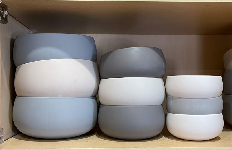 Beso Vida Bowls in the Cabinet