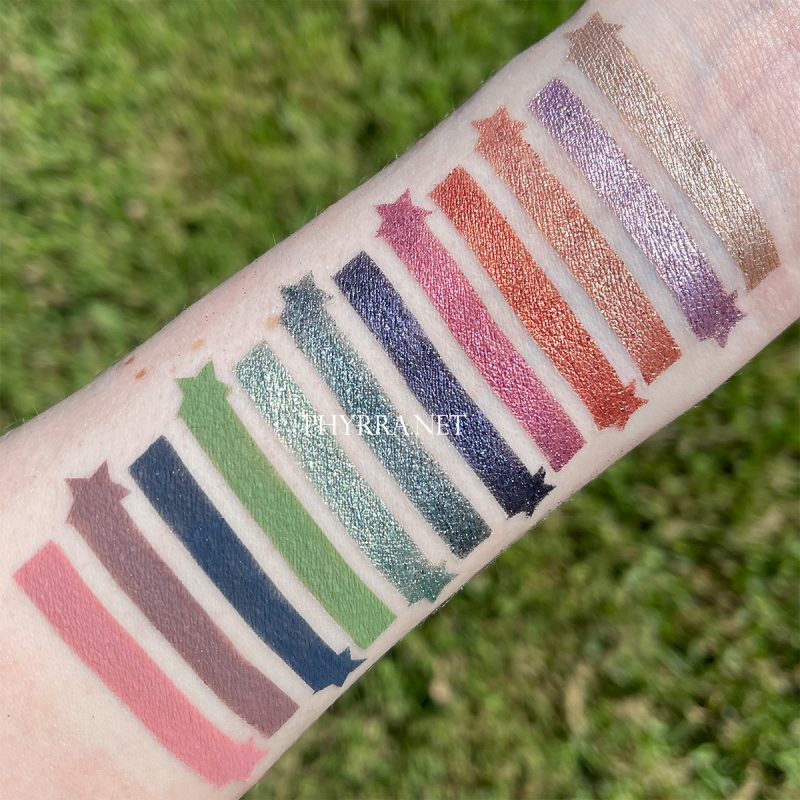 On the Horizon Palette Swatches on Very Light Skin