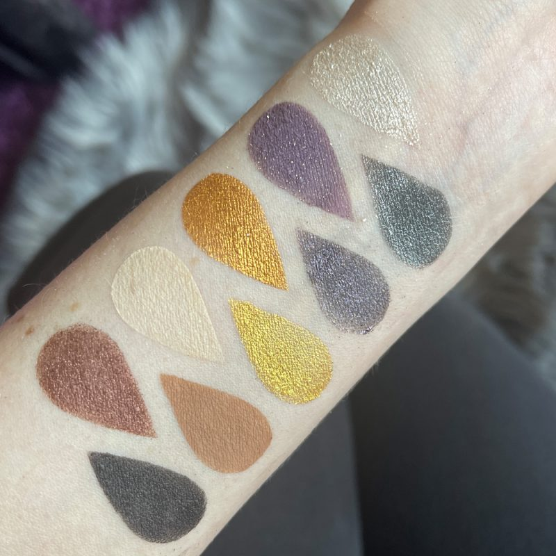 Urban Decay Prince U Got the Look Swatches on Pale Skin