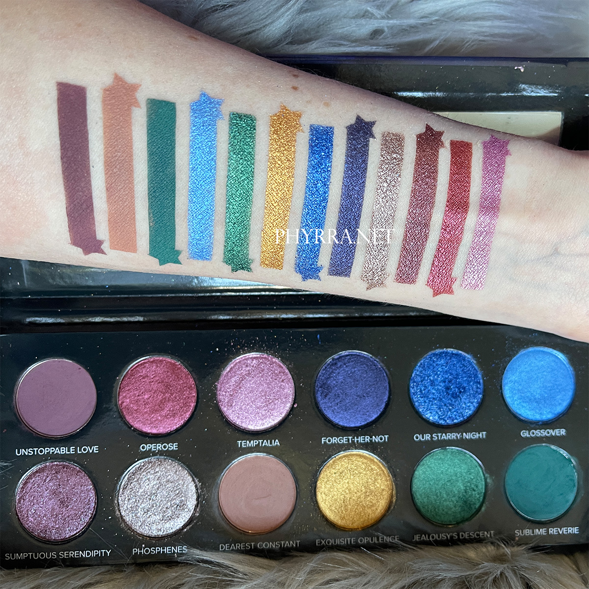 Sydney Grace Radiant Reflection Palette Swatches on Fair Skin