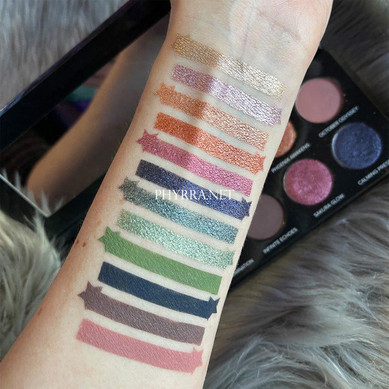 Sydney Grace Co On the Horizon Palette Swatches on Fair Skin