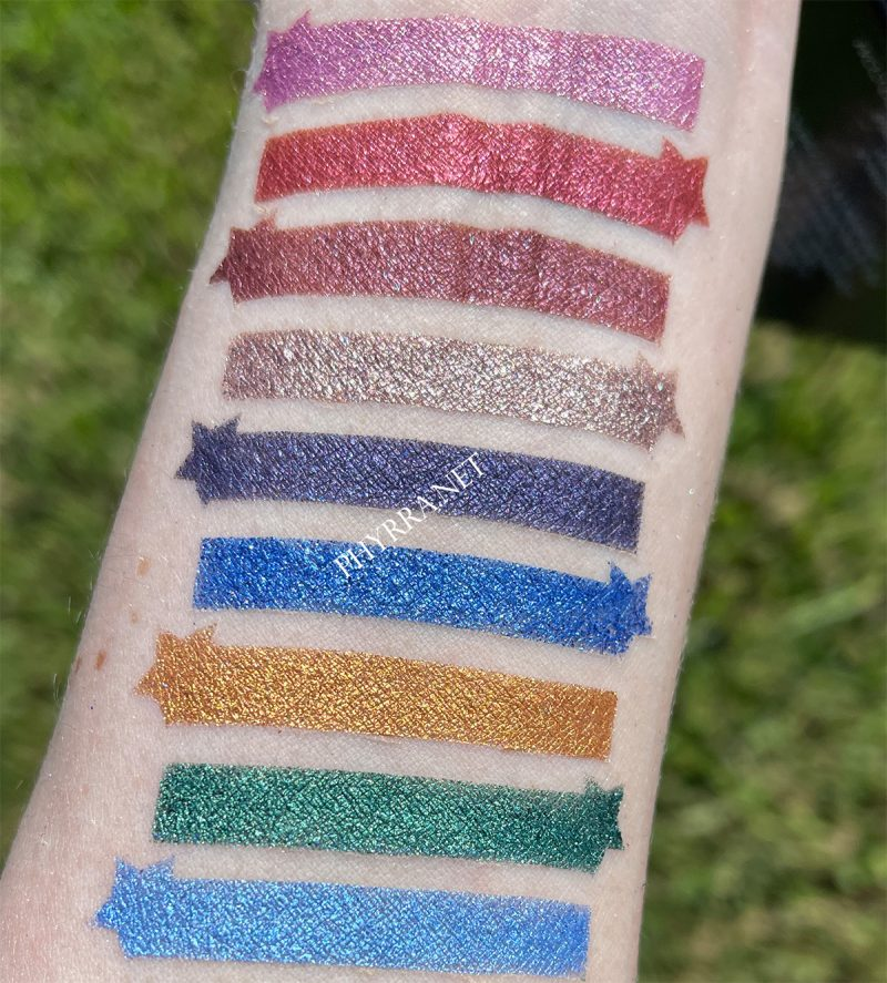 Radiant Reflection Shimmer Swatches on Light Skin