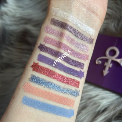 Urban Decay Prince Let's Go Crazy Palette Swatches
