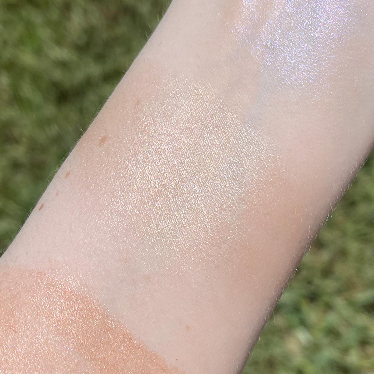 Tidal Lime Crime Skin Stick Swatched on Light Skin