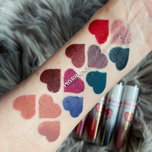 Sugarpill Liquid Lip Colors Swatches