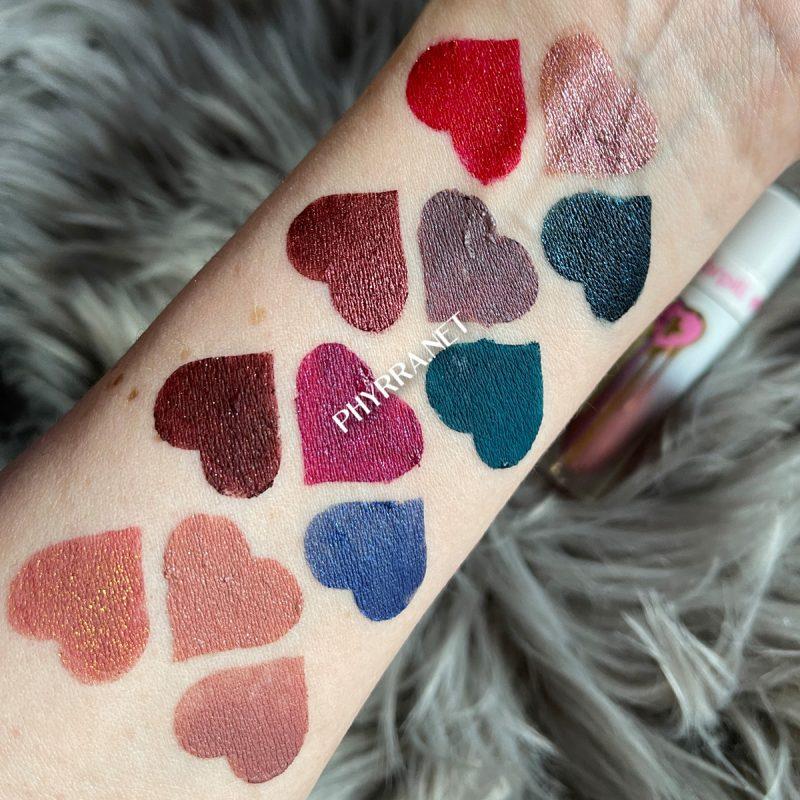 Light Skin Sugarpill Liquid Lip Color Swatches