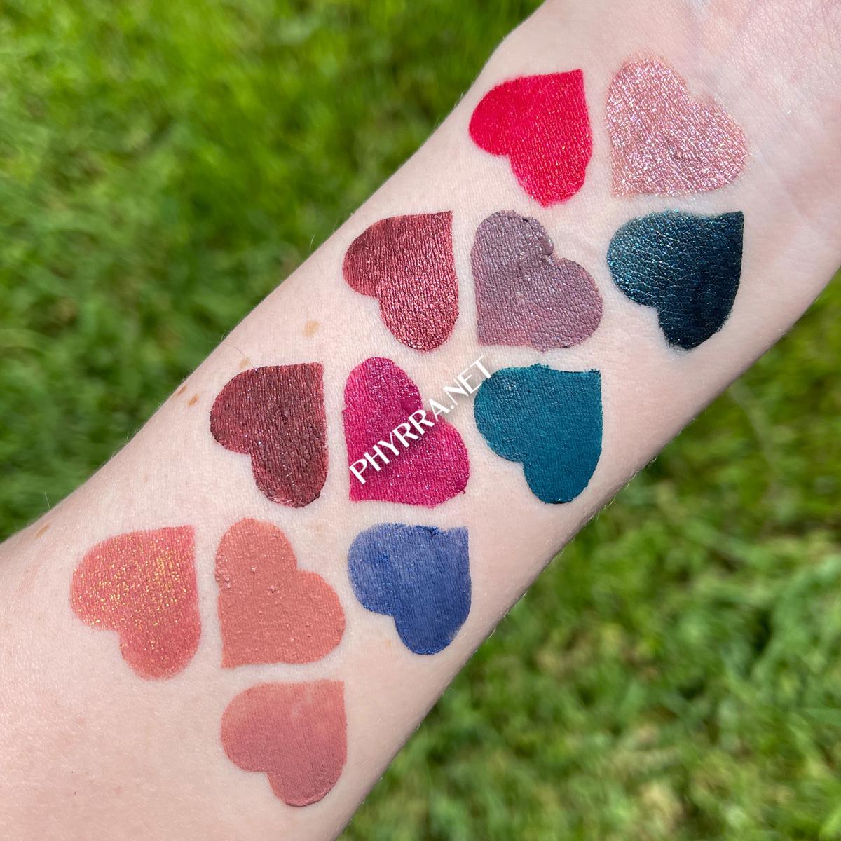 Pale Skin Sugarpill Liquid Lip Color Swatches