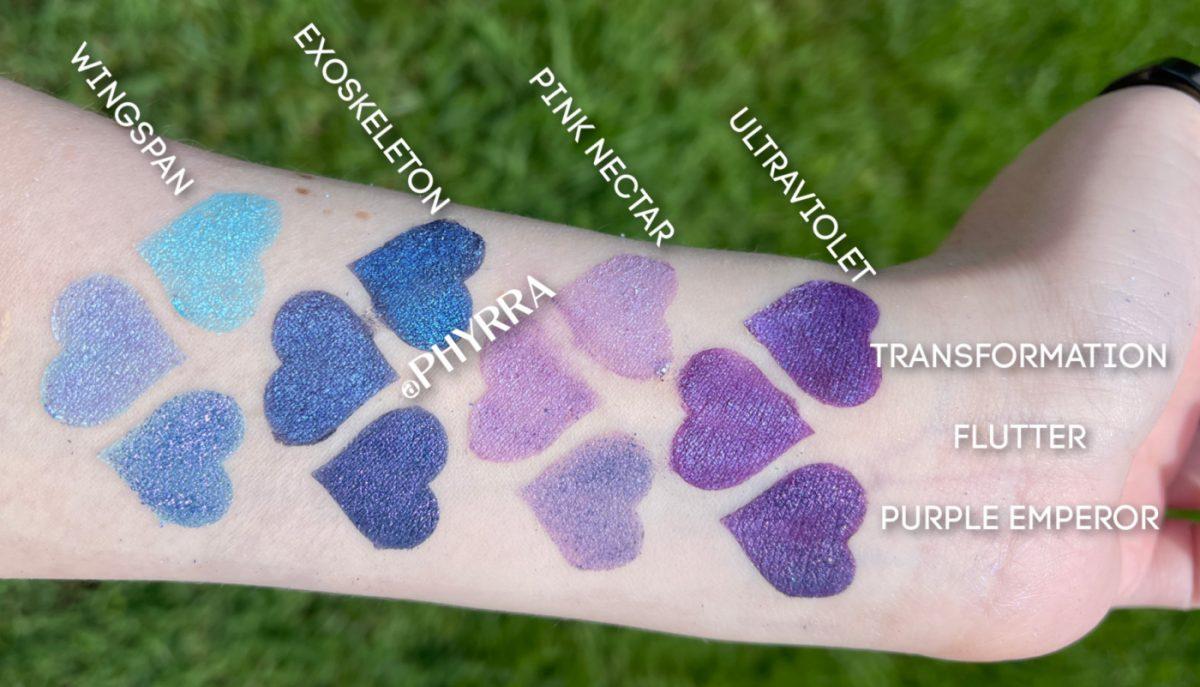 Pink Crush Metamorphosis Eyeshadow Swatches on Pale Skin