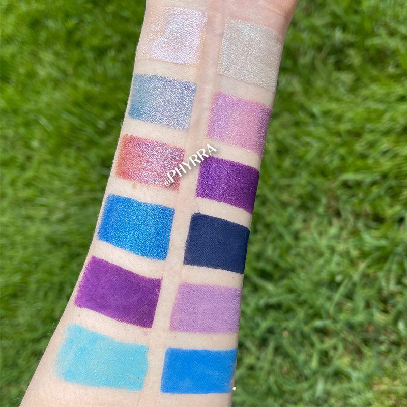 Pink Crush Metamorphosis Eyeshadow Swatches on Light Skin