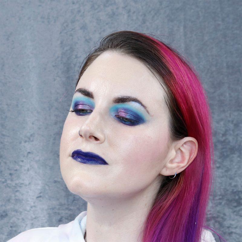 Purple Blue Indie Makeup Tutorial